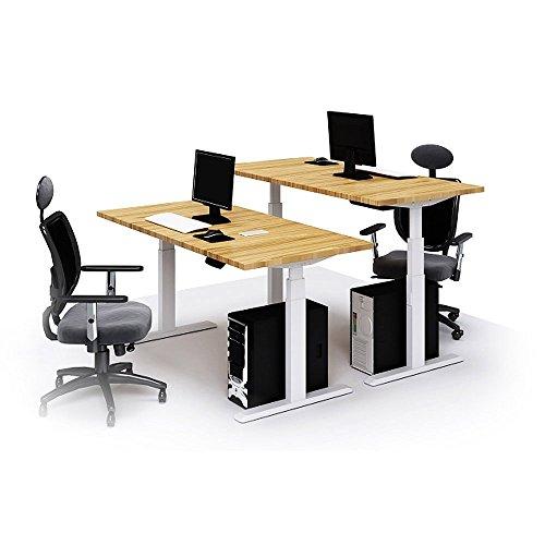 Schreibtisch Elektrisch Fur 2 Personen Nebeneinander: Schreibtisch Kurbel