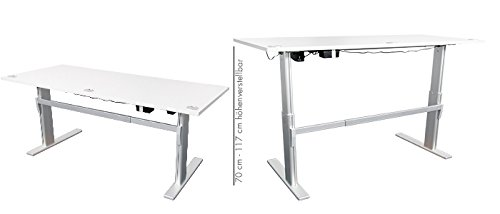 ᐅᐅ Hohenverstellbarer Schreibtisch Ergonomisch Elektrisch B 180