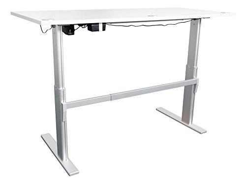 ᐅᐅ Schreibtisch Hohenverstellbar In Lichtgrau Ergonomisch