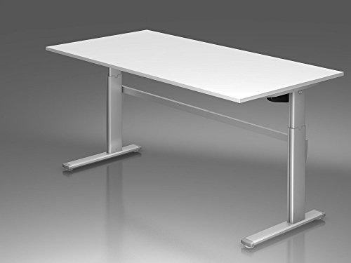 ᐅᐅelektrisch Höhenverstellbarer Schreibtisch 200x100cm Weiß ᐊ