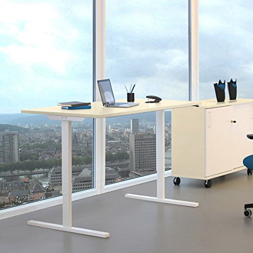 profi elektrisch h henverstellbar schreibtisch easy 180x80cm motortisch linak gestellfarbe. Black Bedroom Furniture Sets. Home Design Ideas