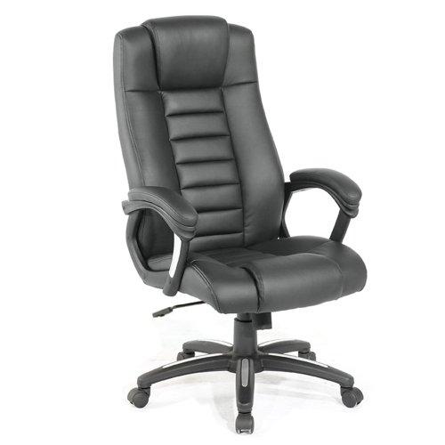TecTake Luxus Chefsessel Bürostuhl mit sehr hochwertiger Polsterung