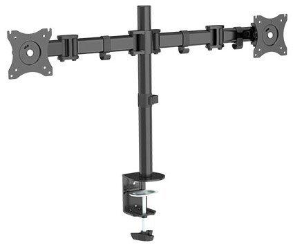 Dual 2 Fach Tischhalterung für LED und LCD Monitore bis 27 Zoll VESA 75x75 100x100 HALTERUNGSPROFI OFFICE-124 (2 Monitore)