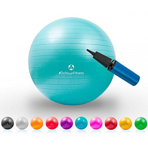 Gymnastik-Ball »Pluto« / Robuster Sitzball und Fitnessball / 65 cm / türkis