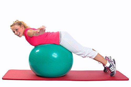 Gymnastik-Ball »Pluto« / Robuster Sitzball und Fitnessball / 65 cm / türkis - 5