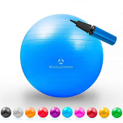 Gymnastik-Ball »Pluto« / Robuster Sitzball und Fitnessball / 65 cm / türkis - 8
