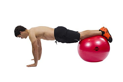 Gymnastikball Fitnessball 65cm mit Pumpe - der Beste für Bauchmuskeln - Stabilität & Tonus - für Cross Fitness - Yoga & Pilates - Bonus Ebook mit 20 Core Crushing Übungen & Workouts - 4