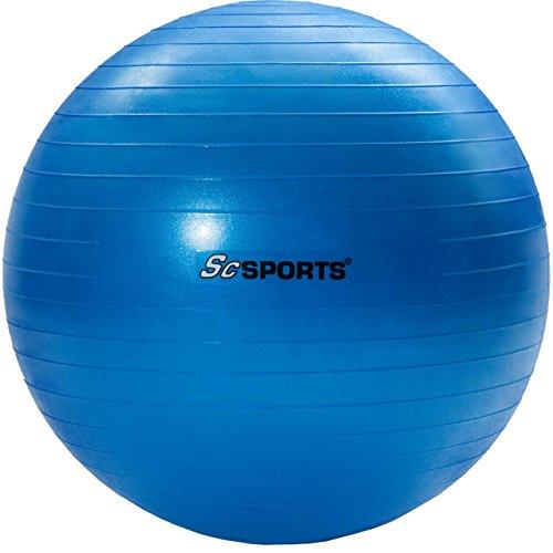 Gymnastikball Sitzball 65 cm, verschiedene Farben, inklusive Handpumpe