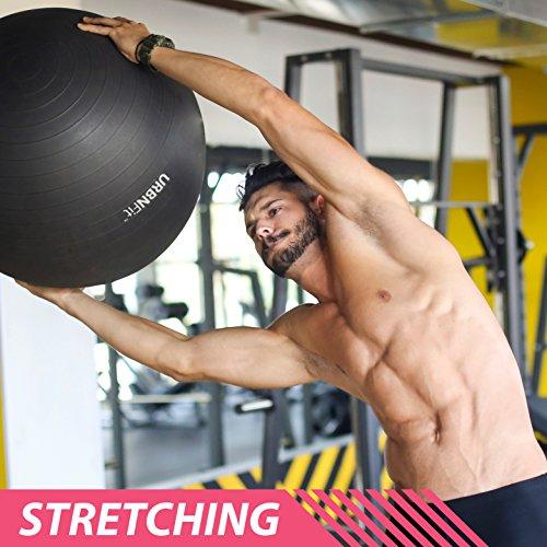 Gymnastikball Übungsball (Mehrere Größen) für Fitness, Stabilität, Balance, Yoga, Schweizer, Schwangerschaft Ball - Übungsleitfaden Inbegriffen - Schnelle Pumpe Inklusive - Anti-Burst Professionelle Qualität - 45cm, Rosa - 7