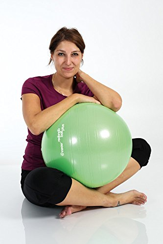 TOGU Gymnastikball, Pilates Ball, Trainingsball, Übungsball TOGU Redondo Ball Plus (Das Original), grün, 38, 491400 - 5