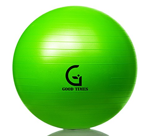Good Times Gymnastikball, anti burst, Yogaball, Pilatesball, Fitnessball, Sitzball mit Pumpe, rutschfest, berstsicher (65cm Hellgrün) - 2