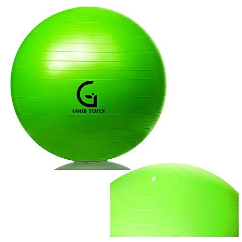 Good Times Gymnastikball, anti burst, Yogaball, Pilatesball, Fitnessball, Sitzball mit Pumpe, rutschfest, berstsicher (65cm Hellgrün) - 3