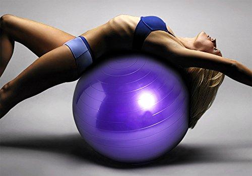 Good Times Gymnastikball, anti burst, Yogaball, Pilatesball, Fitnessball, Sitzball mit Pumpe, rutschfest, berstsicher (65cm Hellgrün) - 6