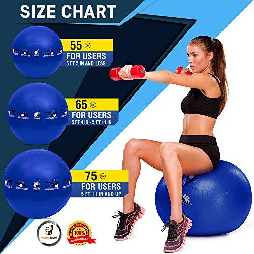 Active Balance Swiss Ball – Robuster Gymnastikball mit gedruckten Übungen & Trainings-eBuch - Der beste Trainingsball für Yoga, Stabilitätsübungen & Pilates. Auch als Sitzball verwendbar - 7