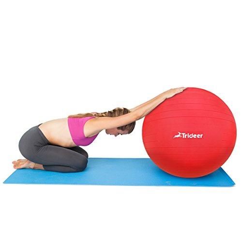 Trideer Robuster Gymnastikball Sitzball Pezziball von 45cm 55cm 65cm 75cm & 85cm inkl. Ballpumpe - 9