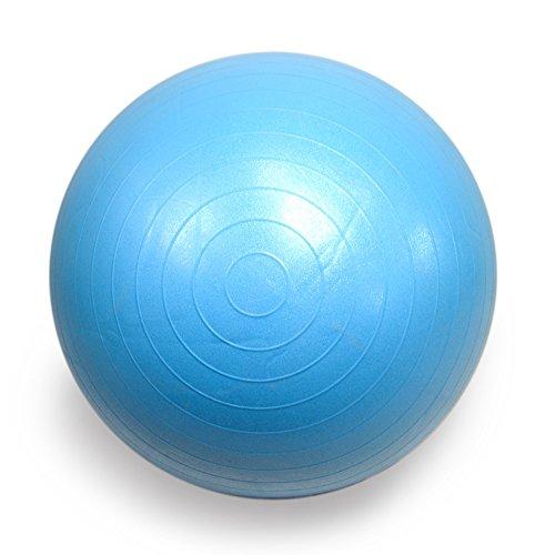 FOURSCOM® Gymnastikball mit Pumpe 75CM Berstsicher Fitnessball Yoga Ball Blau - 3