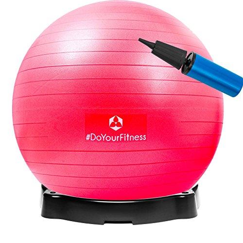 Gymnastikball »Pluto« inklusive Ballschale / Robuster Sitzball und Fitnessball / 75 cm / rot
