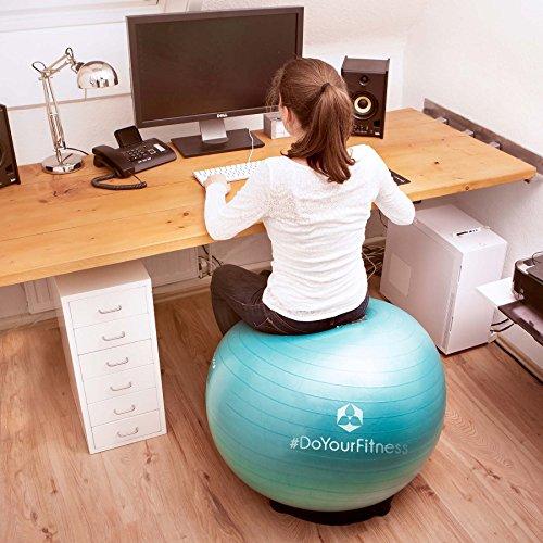 Gymnastikball »Pluto« inklusive Ballschale / Robuster Sitzball und Fitnessball / 75 cm / rot - 2
