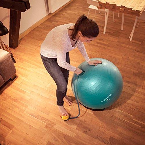 Gymnastikball »Pluto« inklusive Ballschale / Robuster Sitzball und Fitnessball / 75 cm / rot - 7