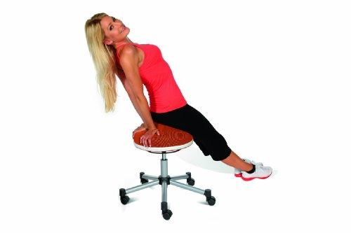 Topstar SH17BB0 Fitness-Hocker Sitness Half Ball /Stoffbezug, schwarz - 4