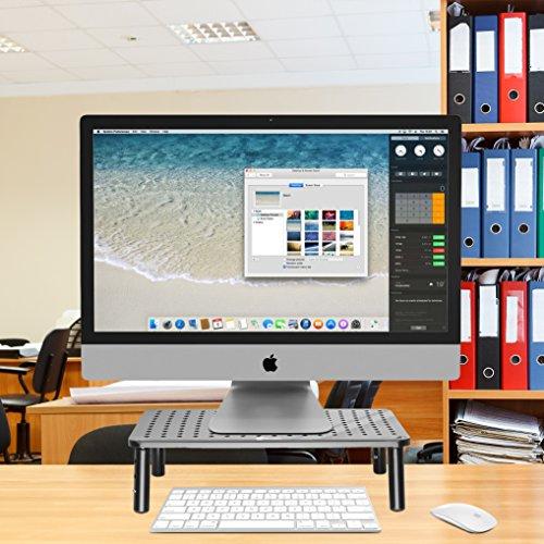 NOVAATO Premium Monitorständer - stabiler Bildschirmständer, platzsparend Design und Höhenverstellbarkeit sorgen für die ideale Monitor Höhe - 5