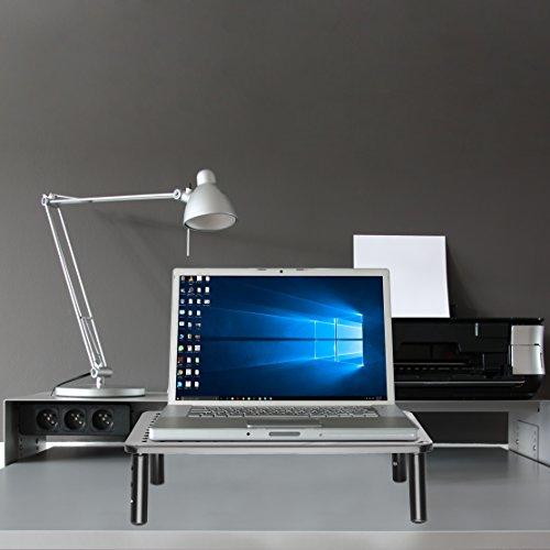 NOVAATO Premium Monitorständer - stabiler Bildschirmständer, platzsparend Design und Höhenverstellbarkeit sorgen für die ideale Monitor Höhe - 6