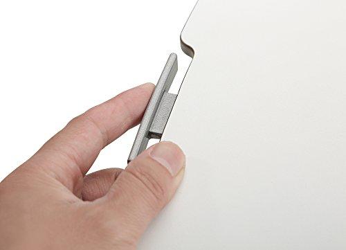 RICOO Universal Sitz Steh Monitor Halterung TS1111 Schreibtischaufsatz Höhenverstellbar Ergonomie Gasfeder Ultra Flach Bildschirm Monitorstand Weiss Silber - 6