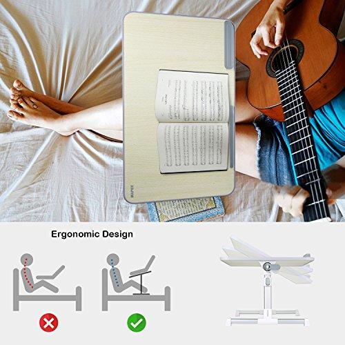 MAPUX Multifunktionstisch Tragbar Höhenverstellbar und Winkelverstellbar Laptoptisch Laptopständer Betttisch NoteBooktisch Bücherständer für Sofa, Bett, Terrasse, Balkon, Garten usw. - 3
