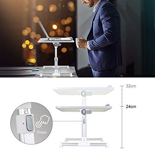 MAPUX Multifunktionstisch Tragbar Höhenverstellbar und Winkelverstellbar Laptoptisch Laptopständer Betttisch NoteBooktisch Bücherständer für Sofa, Bett, Terrasse, Balkon, Garten usw. - 4