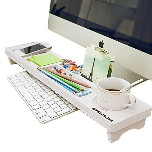 CYBERNOVA Schreibtisch Organizer Kleine Objekte Storage Tastatur Ware Regal,Stauraum für Stationery Gegenstände