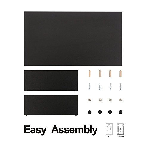 FITUEYES Monitorständer aus Holz 42,5x23,5x10cm schwarz mit Stauraum DT104201MB - 7