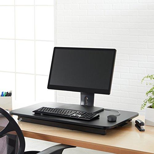 AmazonBasics - Höhenverstellbarer Aufsatz für den Schreibtisch, zum Arbeiten im Sitzen oder Stehen - 4