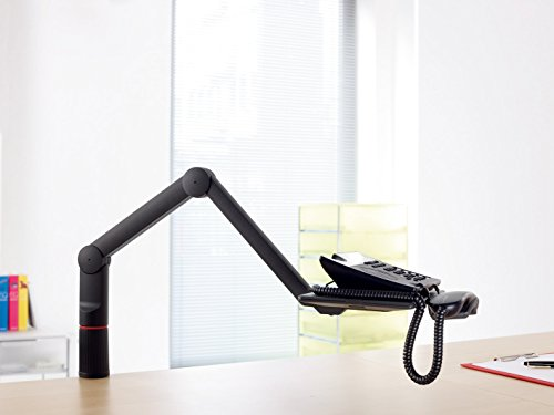 Novus TalkMaster Telefonschwenkarm (mit Telefonablage und 2-gelenkigem Schwenkarm) anthrazit - 3
