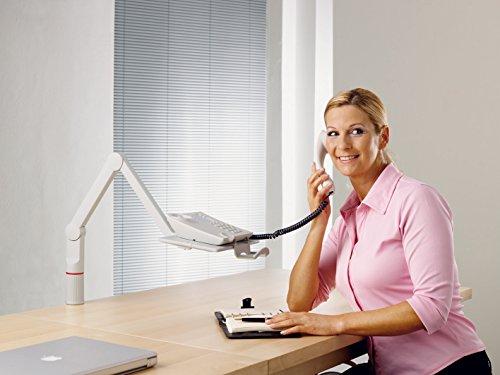 Novus TalkMaster Telefonschwenkarm (mit Telefonablage und 2-gelenkigem Schwenkarm) lichtgrau - 6