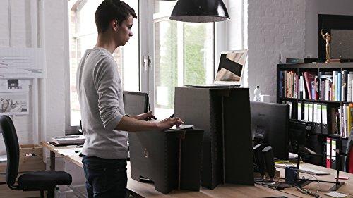 Stehschreibtisch MonKey Desk von ROOM IN A BOX - Large/Schwarz: Faltbares ergonomisches Stehpult, praktischer Ständer für Laptop, PC, Tablet und Monitor, klappbarer Standing Desk für den Schreibtisch - 4