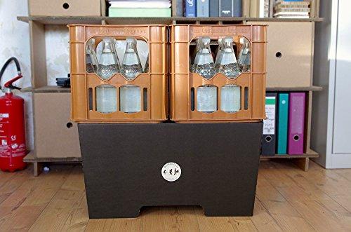 Stehschreibtisch MonKey Desk von ROOM IN A BOX - Large/Schwarz: Faltbares ergonomisches Stehpult, praktischer Ständer für Laptop, PC, Tablet und Monitor, klappbarer Standing Desk für den Schreibtisch - 6