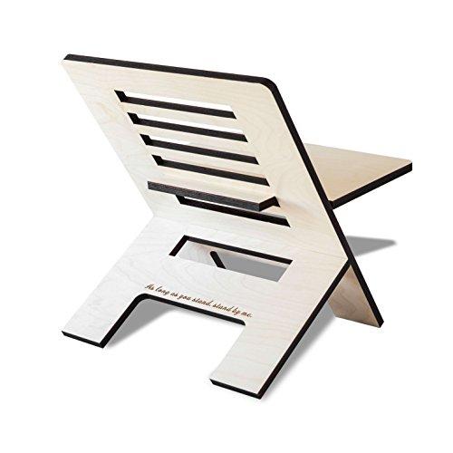Stehschreibtisch Aufsatz aus Holz - Der höhenverstellbare STANDSOME SLIM Steh Sitz Schreibtisch für ein gesundes Arbeiten im Büro oder ganz egal wo - 3