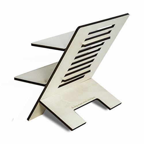 Stehschreibtisch Aufsatz aus Holz - Der höhenverstellbare STANDSOME DOUBLE Steh Sitz Schreibtisch für ein gesundes Arbeiten im Stehen - 3