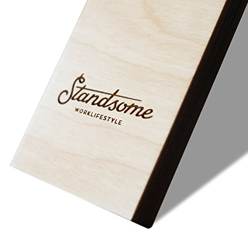 Stehschreibtisch Aufsatz aus Holz - Der höhenverstellbare STANDSOME DOUBLE Steh Sitz Schreibtisch für ein gesundes Arbeiten im Stehen - 5