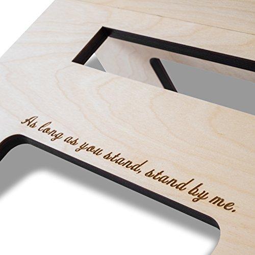 Stehschreibtisch Aufsatz aus Holz - Der höhenverstellbare STANDSOME DOUBLE Steh Sitz Schreibtisch für ein gesundes Arbeiten im Stehen - 6