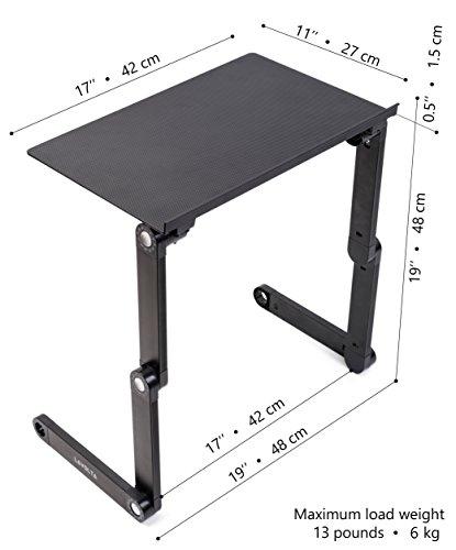 Lavolta Ergonomischer Laptop-Ständer/Frühstückstablett/Buchständer, Schwarz - 7