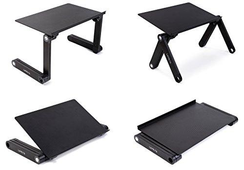 Lavolta Ergonomischer Laptop-Ständer/Frühstückstablett/Buchständer, Schwarz - 8