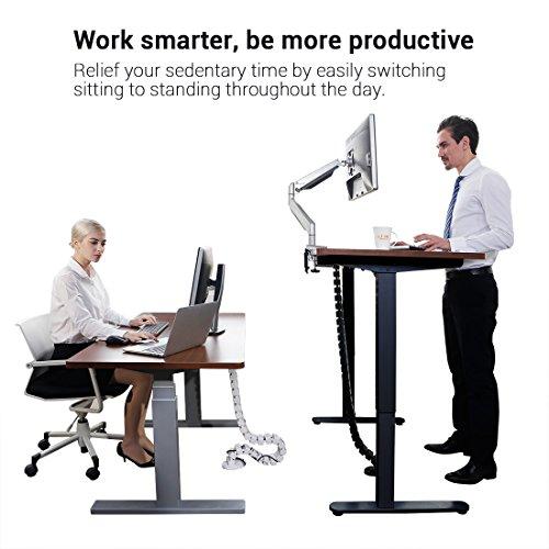 Flexispot E2B Höhenverstellbarer Schreibtisch Elektrisch höhenverstellbares Tischgestell, passt für alle gängigen Tischplatten. Mit Memory-Steuerung und Softstart/-Stop. (Tischgestell-2 Fach Schwarz) - 2